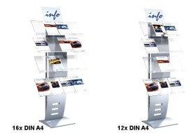 Prospektregal A4 TEC-SWING