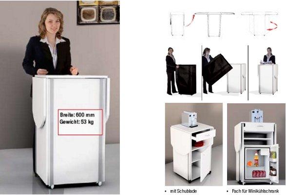 theke klappbar prospektst nder roll up popup display kundenstopper theke. Black Bedroom Furniture Sets. Home Design Ideas
