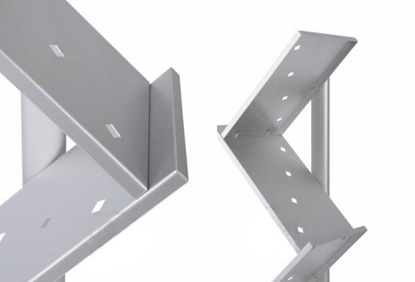 Prospektständer A4 DOUBLE Z Detail