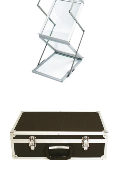 Prospektständer faltbar A4 ZED-UP Lite Transportkoffer