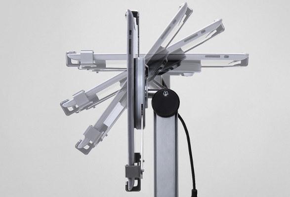 Tablet Bodenständer höhenverstellbar MUSCLE - drehbar